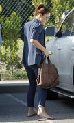 Minka Kelly - out and about in Beverly Hills 12/07/12