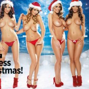 Gatas QB - The Nuts Christmas Special | Lucy Pinder, India Reynolds, Holly Peers e Rosie Jones | Nuts Magazine | 14 Dezembro 2012