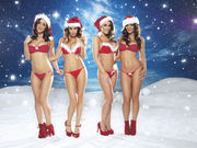 Lucy Pinder, Holly Peers, India Reynolds & Rosie Jones Nuts Christmas 2012