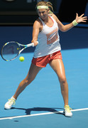 Victoria Azarenka - at a practice session in Melbourne 1/11/13