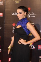 Indian actress Neha Dhupia - 19th Annual Colors Screen Awards in Mumbai on January 13, 2013