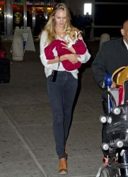 Candice Swanepoel - arrives at JFK Airport in NYC 1/15/13