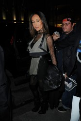 Maggie Q - leaving Rockefeller Center in NYC 1/17/13