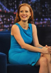 Jessica Chastain - visits Late Night with Jimmy Fallon in NYC 1/18/13