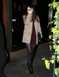 Michelle Trachtenberg - dinner at Madeo in West Hollywood 1/28/13