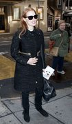 Jessica Chastain - arrives at the Walter Kerr Theater in NYC 2/3/13