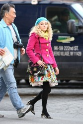 AnnaSophia Robb - on the set of 'The Carrie Diaries' in NYC 2/6/13