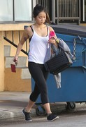 Brenda Song - leaving the gym in Studio City 2/9/13
