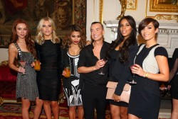 The Saturdays - At Julien Macdonald Fashion show, London Fashion Week - February 16, 2013
