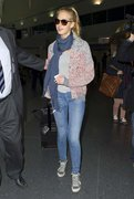 Erin Heatherton - arrives at JFK Airport in NYC 2/19/13