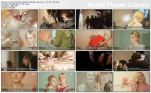Dakota Fanning - J. Estina Photoshoot BTS video