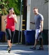 Minka Kelly - working out in LA 2/25/13