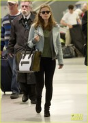 Kate Mara - at JFK Airport in NYC 3/24/13