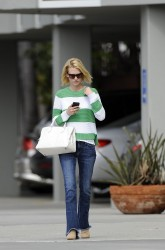 January Jones - out in LA 4/1/13