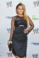 Adrienne Bailon - WWE Superstars for Sandy Relief in NYC 4/4/13