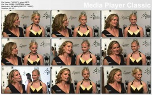 ELISABETH SHUE cleavage - red carpet - VIDEO - cleavage