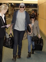 Lea Michele - at Vancouver Airport 5/4/13