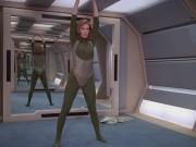 Marina Sirtis, Gates McFadden - Star Trek TNG 3x08 (leotard) 1080p