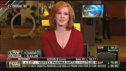 LIZ CLAMAN cleavage - fbn - may 3, 2013