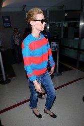 January Jones - At LAX Airport 5/7/13