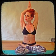 Amy Davidson in yoga pose - ADDS!