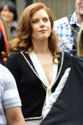Amy Adams - on the set of 'American Hustle' in NY 5/18/13