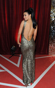Kym Marsh@British Soap Awards 2013 in low-back silver gown