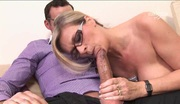 Hot Busty MILF with Glasses Fucks a Lucky Guy Cover