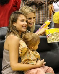 Jessica Alba - at the Sparks game in LA 5/26/13