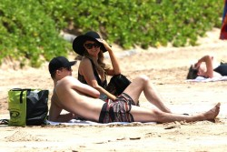 Paris Hilton - on the beach in Hawaii 5/28/13