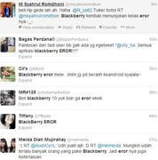 Pengguna BlackBerry berkicau di Twitter