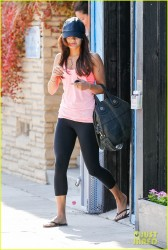 Vanessa Hudgens - Leaving pilates class in Studio City 7/3/13