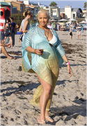 Amber Rose - At the beach in Malibu 7/4/13