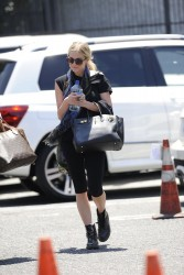 Ashlee Simpson - Going to dance class in LA 7/9/13