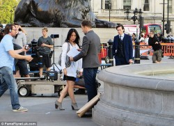 Lucy Liu - on the set of 'Elementary' in London 7/10/13