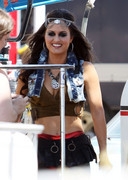 Danica McKellar - at Avril Lavigne's music video shoot in LA 7/25/13
