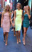 Karlie Kloss, Erin Heatherton & Behati Prinsloo - at GMA in NYC 7/30/13
