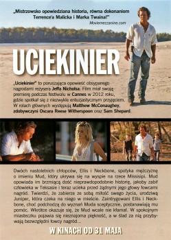 Tył ulotki filmu 'Ucieknier'