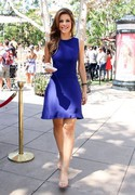 Maria Menounos - on the set of Extra in LA 8/16/13
