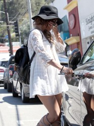 Vanessa Hudgens - out in LA 8/21/13
