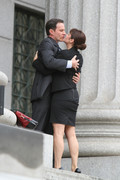 Tiffani Thiessen - on the set of 'White Collar' in NYC 8/23/13