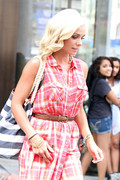 Katherine Jenkins - leaving her hotel in NYC 8/23/13