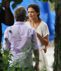 Katie Holmes - on the set of 'Miss Meadows' in Ohio 8/27/13
