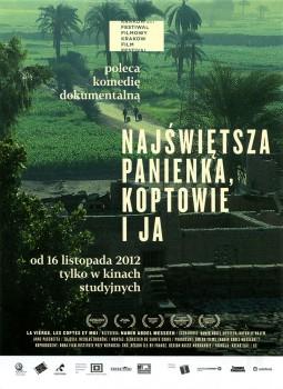 Przód ulotki filmu 'Najświętsza Panienka, Koptowie i Ja'