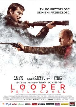 Przód ulotki filmu 'Looper - Pętla Czasu'