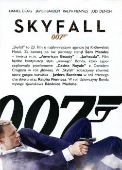 Tył ulotki filmu 'Skyfall'