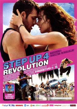 Przód ulotki filmu 'Step Up 4 Revolution'