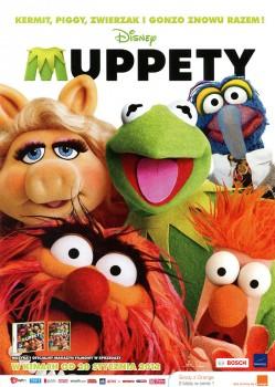 Przód ulotki filmu 'Muppety'