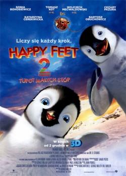 Przód ulotki filmu 'Happy Feet: Tupot Małych Stóp 2'