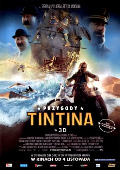 Przód ulotki filmu 'Przygody Tintina'